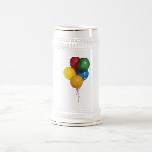 Multi Coloured Party Balloons Coffee Mug