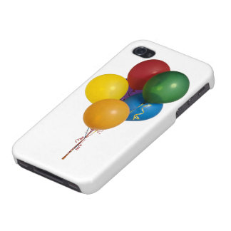 Multi Coloured Party Balloons iPhone 4 Cases