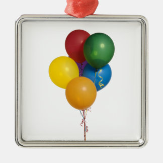 Multi Coloured Party Balloons Metal Ornament