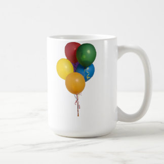 Multi Coloured Party Balloons Classic White Coffee Mug