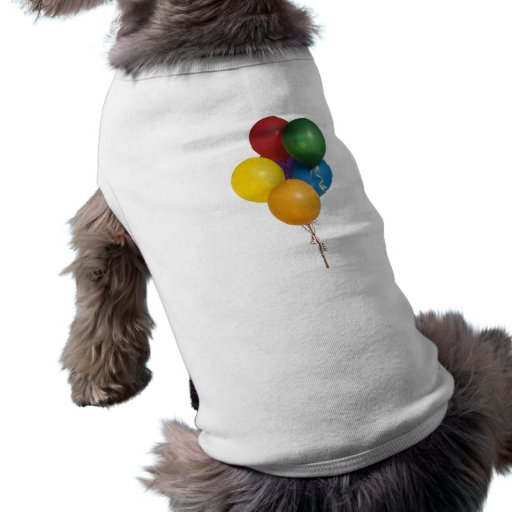 Multi Coloured Party Balloons Pet Clothes