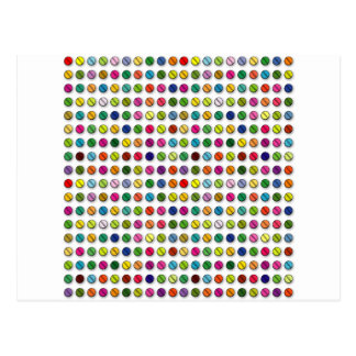 Multi-coloured Pills Pattern Postcard