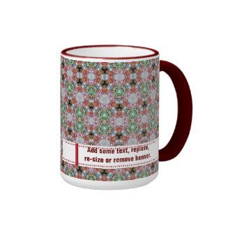 Multi Coloured Ringer Mug With Banner