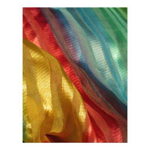 Multi Coloured Silken Cloth Letterhead