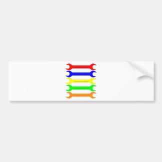 Multi-Coloured Spanners Bumper Sticker