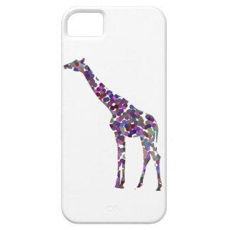 Multi-coloured spotted Giraffe iPhone SE/5/5s Case