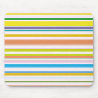 Multi Coloured Stripes Mouse Pad