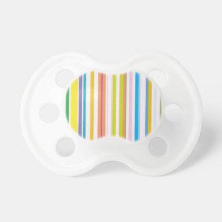 Multi Coloured Stripes Pacifier