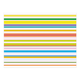 Multi Coloured Stripes Postcard