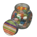 Multi-coloured stripes Three Jelly Belly Candy Jar