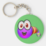 Multi coloured Worm Keychain