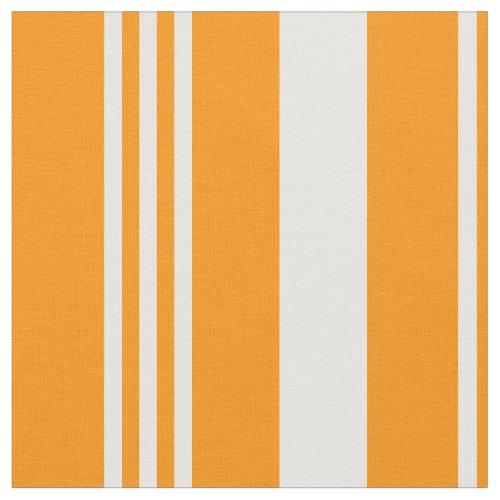 Multi_Column Orange Vertical Stripes Fabric