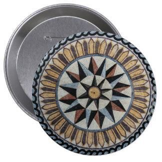 Multi Compass Decor Marble Mosaic Pin