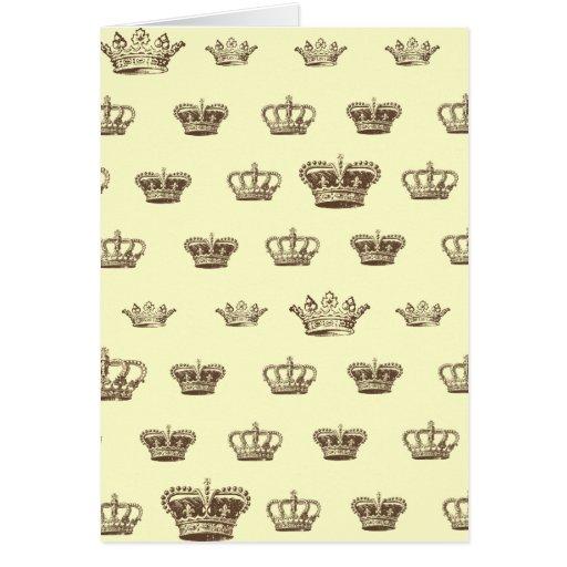 Multi Crown design - choose bkgd color Card