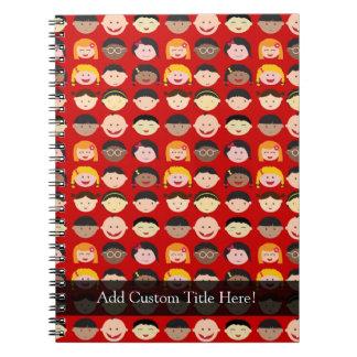 Multi-Cultural Children Spiral Note Books