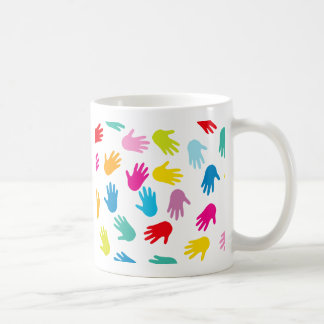 Multi Cultural Colorful Hands Coffee Mug