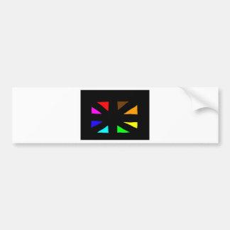 multi-cultural little flag bumper sticker