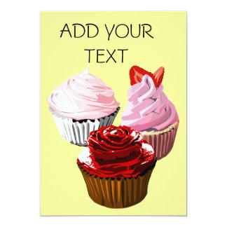 Multi cupcake Invitation