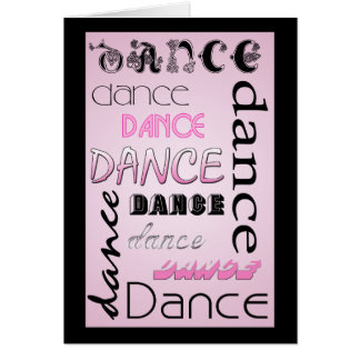 Multi Dance Text BLANK Note Card
