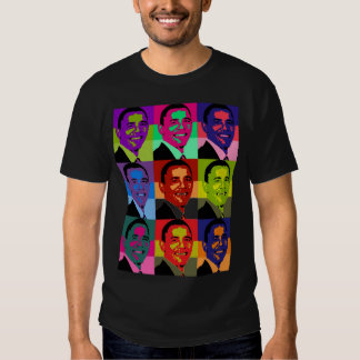 Multi de Barack Obama coloreada Poleras