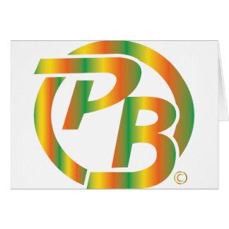 Multi de la identificación del logotipo de Pecky B Tarjeta De Felicitación