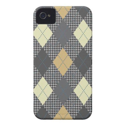 Multi de moda retro de Argyle Case-Mate iPhone 4 Carcasa
