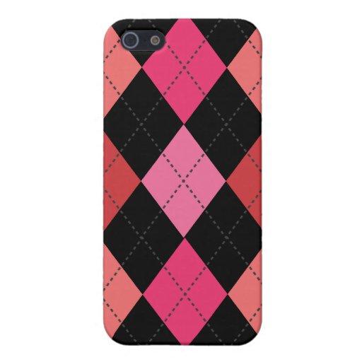 Multi de moda retro de Argyle iPhone 5 Coberturas