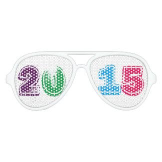 Multi del Año Nuevo 2015 coloreada Lentes De Sol