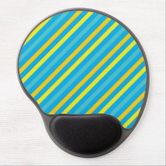 Multi Diagonal Stripe Blue Design Gel Mouse Mat