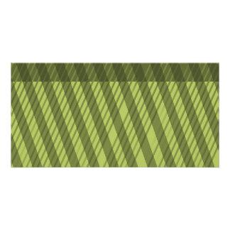 Multi Directional Green Stripe Pattern Card