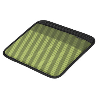 Multi Directional Green Striped Pattern Sleeve For iPads