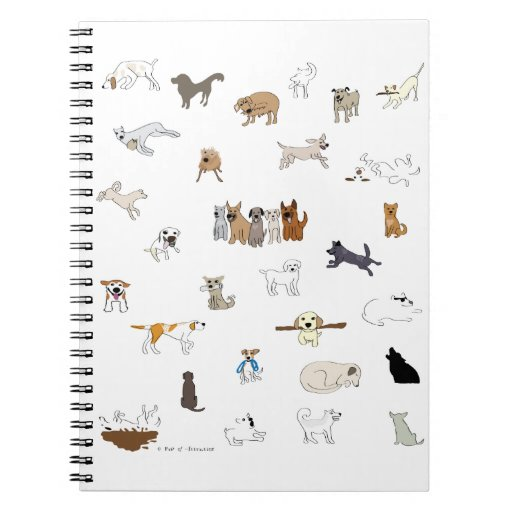 Multi-Dogs - Paw of Attraction Note Books