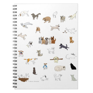 Multi-Dogs - Paw of Attraction Spiral Notebook