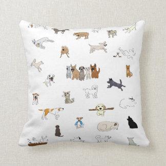 Multi-Dogs - Throw Pillow
