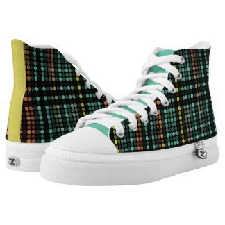Multi Dots Zipz Sneackers Printed Shoes