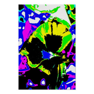 Multi Faceted Psychedelic flower Print