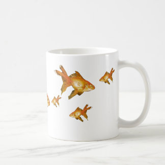 multi fancy goldfish shoal coffee mug