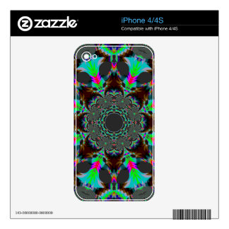 Multi Feathery Mandala Skin For iPhone 4S