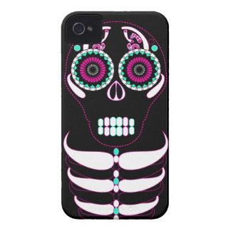 Multi Fiesta Skull Black iPhone 4 Case-Mate Case