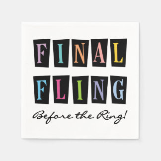 Multi Final Fling Before the Ring Paper Napkins