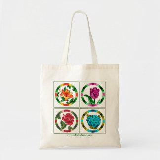 Multi Floral Tote Canvas Bag