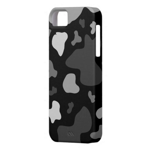 Multi Gray/Black Cow Print - iPhone 5 Case