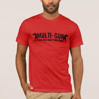 Multi-Gun - Real Men Shoot Production T-Shirt