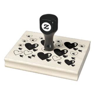 Multi-Heart pattern stamper Rubber Stamp