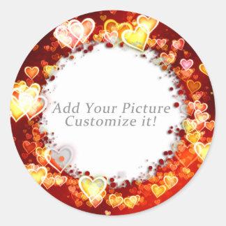 Multi Hearts Frame Sticker - Add your Picture