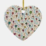 Multi Hearts Ornament A7