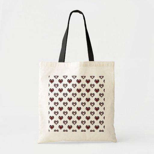 Multi Hearts Tote Bags