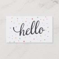 Multi Hello Dots Business Card