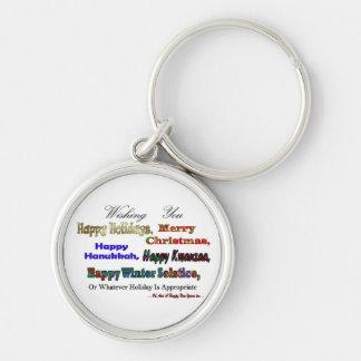 Multi Holiday greeting Keychain