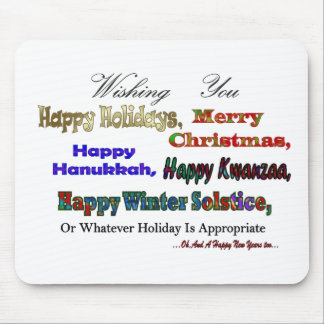 Multi Holiday greeting Mouse Pad